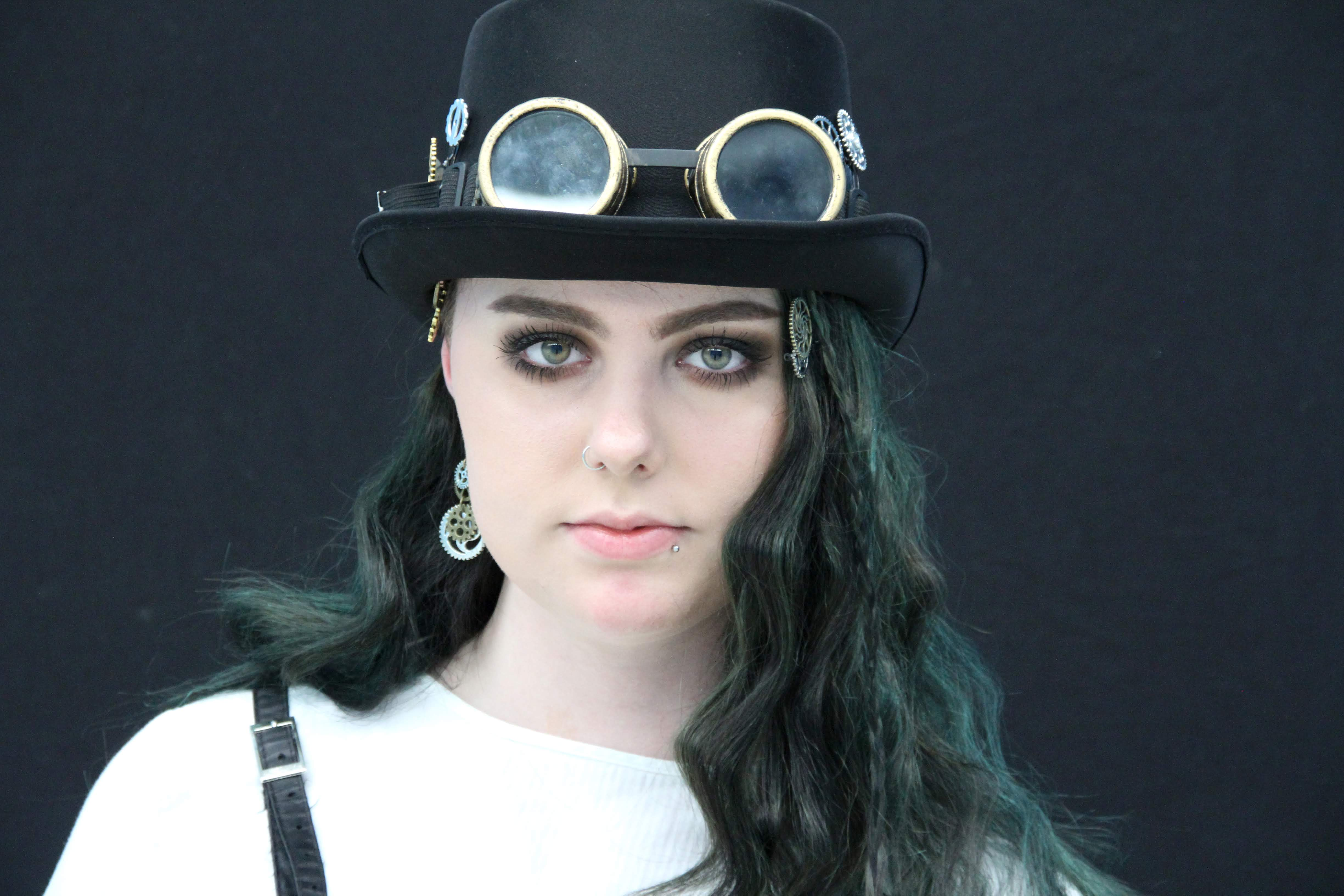 A steampunk inspired style from Not Another Hair Show