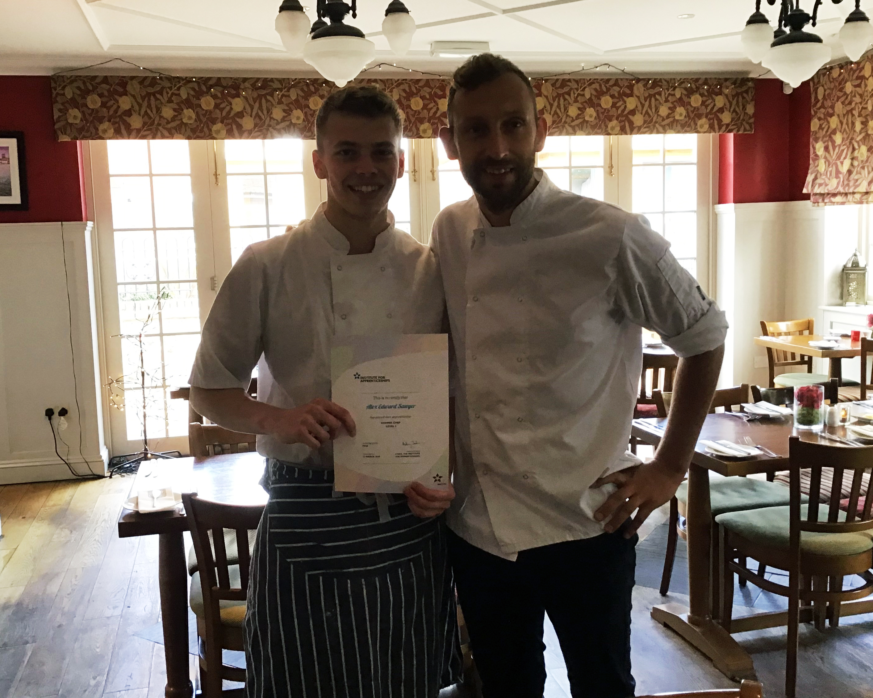 Alex Sawyer and Mark Dixon (head chef, the King's Arms Fleggburgh)
