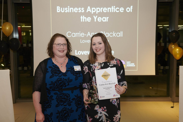 Carrie Ann Blackwell Business Apprentice of the Year Photo credit ANDI SAPEY