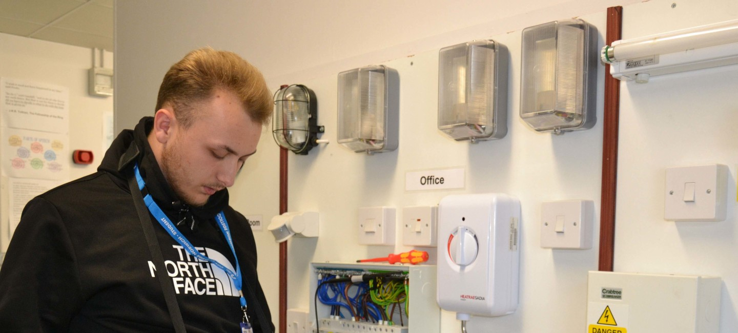 Electrical installation student Charlie Winter