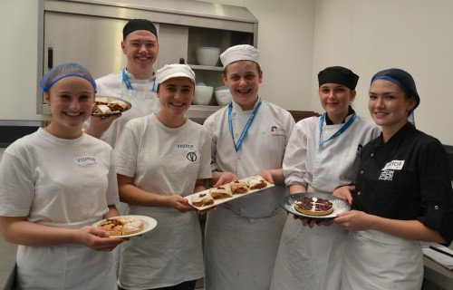 City College and Swiss catering students with food they have created