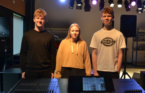 Events Management and Production students Charlie Stelling Lottie Middleton and Alex Whall