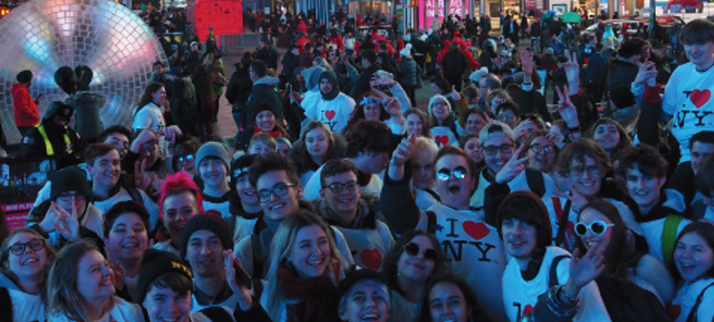 City College Sixth Form students on trip in New York
