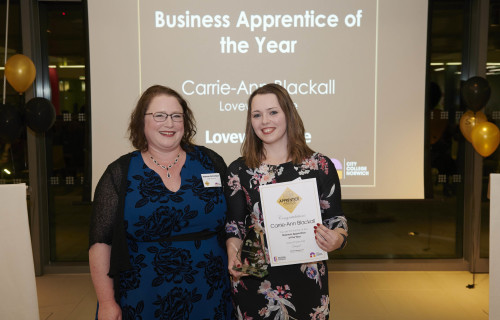Web Carrie Ann Blackwell Business Apprenitce of the Year Photo credit ANDI SAPEY