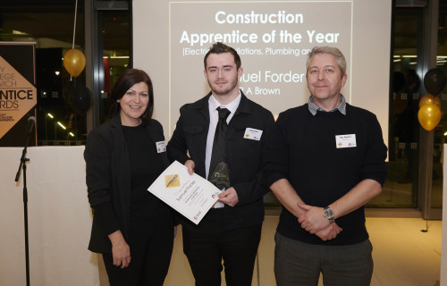 Web Sam Forder Construction Apprentice of the Year Photo credit ANDI SAPEY