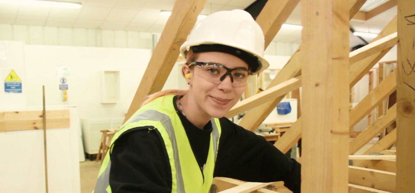 City College Carpentry and Joinery student, Rosie