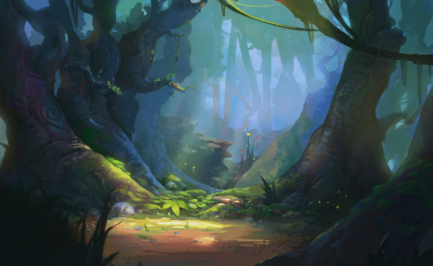 Digital Arts illustration of fairy tale forest