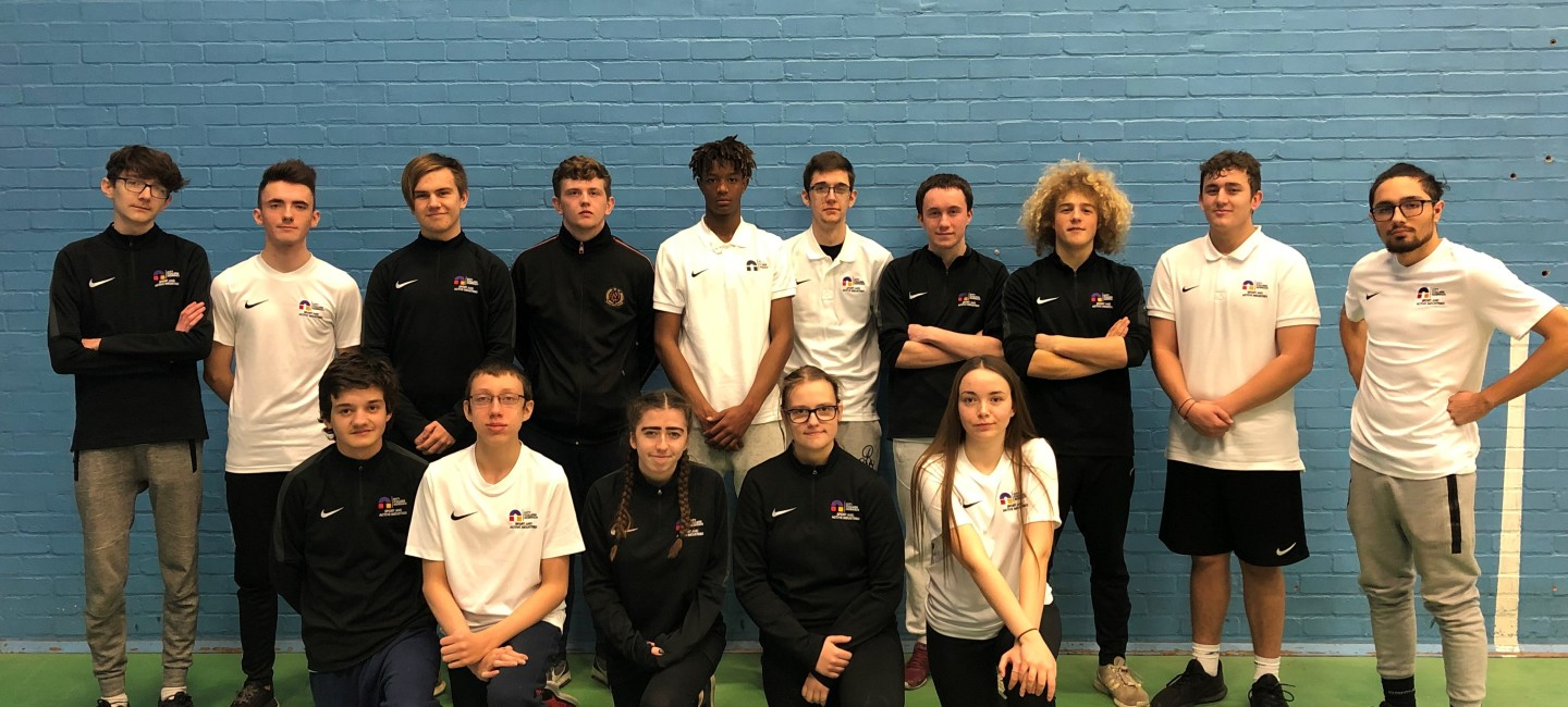 Squad picture of City College Sports students at 5-a-side football tournament
