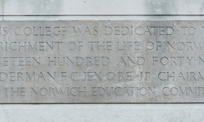 city college norwich plaque